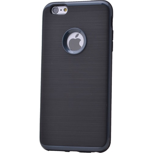 Case 4U Apple İphone 6 Korumalı Arka Kapak Parlak Siyah