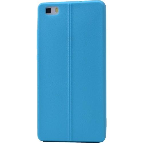 Case 4U Huawei P8 Desenli Silikon Kılıf Mavi