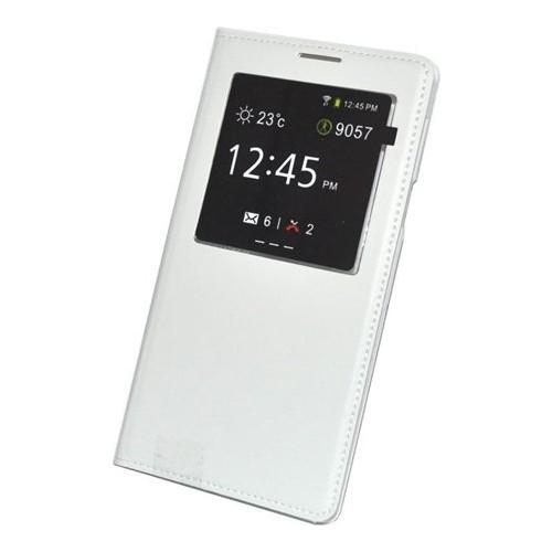 Case 4U Samsung Galaxy J7 Pencereli Flip Cover Beyaz