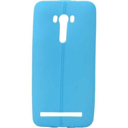 Case 4U Asus Zenfone Selfie Desenli Silikon Kılıf Mavi