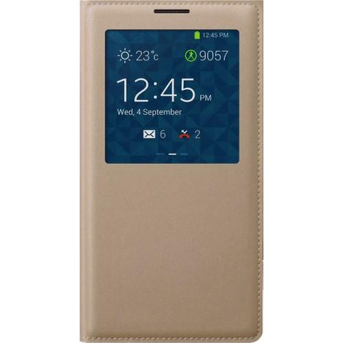 Case 4U Samsung Galaxy Grand Prime Pencereli Flip Cover Altın