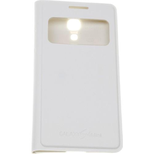 Case 4U Samsung S4 Mini i9190 Pencereli Flip Cover Beyaz