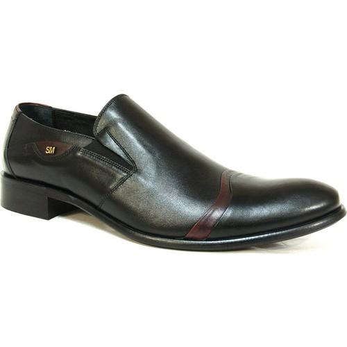 Smart 1810 Siyah Kahve Bağcıksız Erkek Ayakkabı