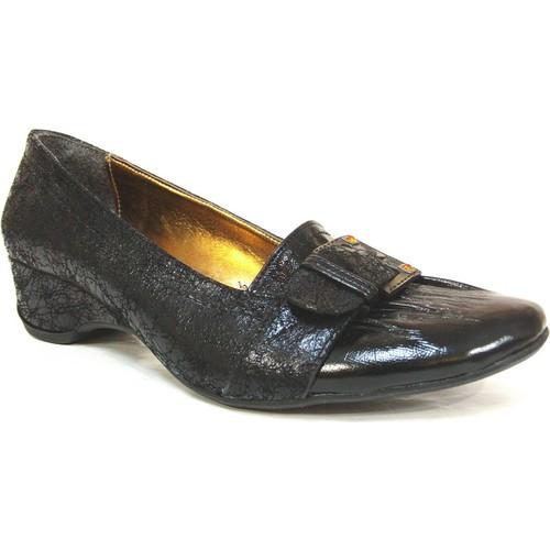 Lady Beatrise Siyah Dolgu Topuk Kadın Ayakkabı