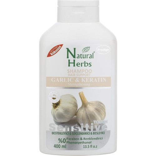 Natural Herbs Sarımsaklı Şampuan 400 Ml Keratinli