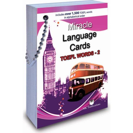 Miracle Language Cards (TOEFL Words-2) (Kelime Kartı) - Murat Kurt