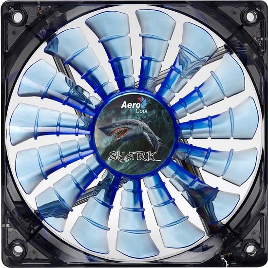 Aerocool Shark Serisi 14cm Mavi LED'li Sessiz Kasa Fanı (AE-CFSH140B)