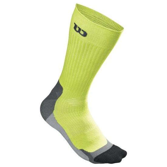 Wilson High-End Crew Erkek Çorabı SM/MD - Lime Punch/Siyah ( WRA511702SMMD )