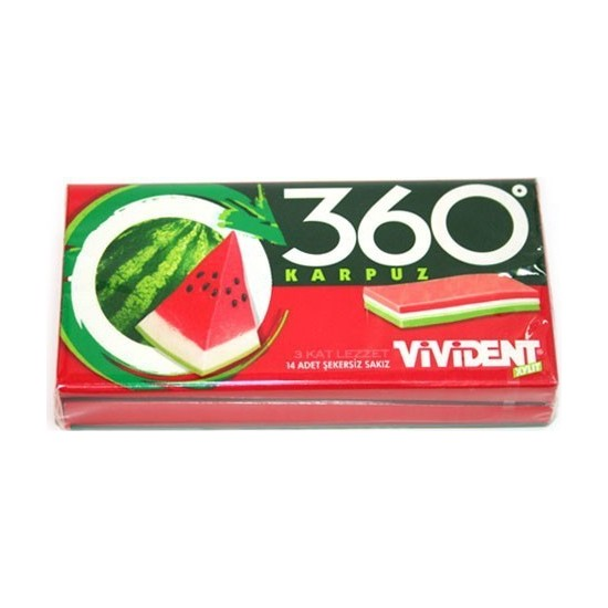 Vivident Cüzdan 360 Karpuz 18 Adet