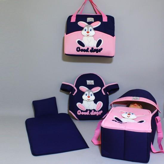 Rain Baby 4'Lü Tavşanlı Kanguru Taşıma Seti