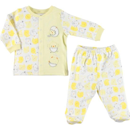 Kujju Penye Pijama Takımı 3 - 6 Ay Sarı