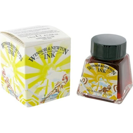 Winsor & Newton Çini Mürekkebi 14Ml - Sunshine Yellow