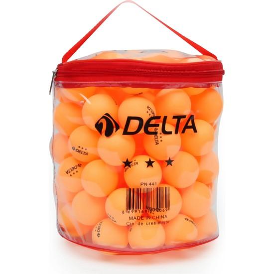 Delta Çantalı 100 adet Turuncu Masa Tenisi Topu (Pinpon Topu)