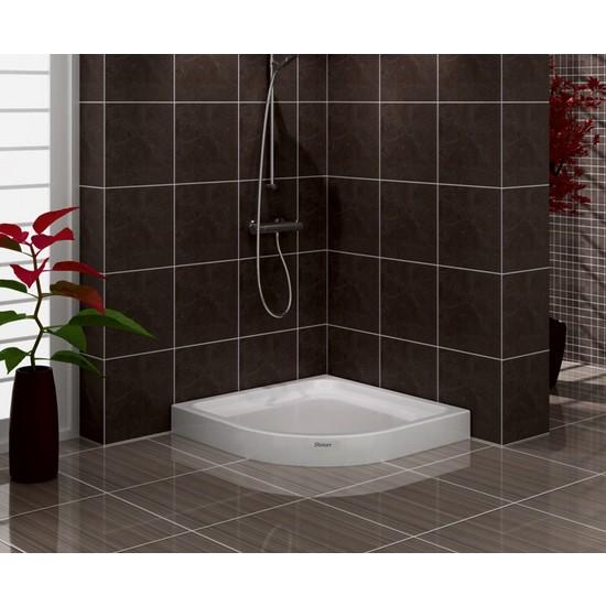 Shower Oval Monoblok Duş Teknesi 100*100
