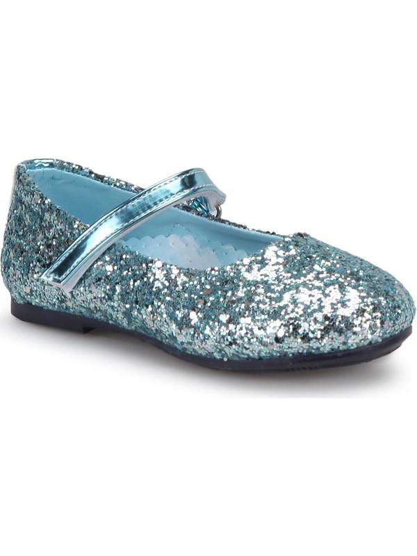 Frozen 90443T Mavi Kız Çocuk Babet