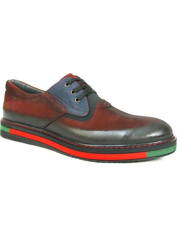 Dropland 3660 Bordo Lacivert Bağcıklı Casual Erkek Ayakkabı