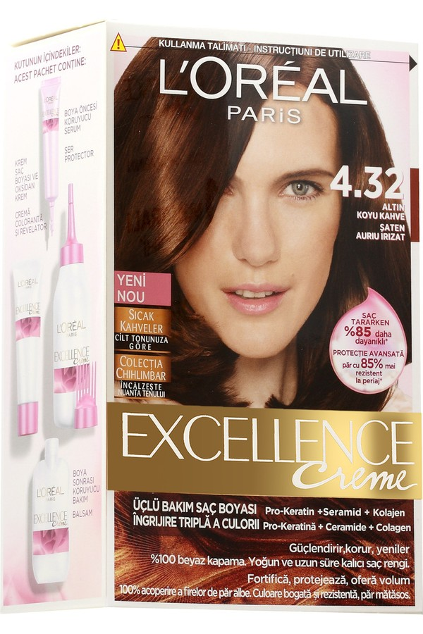 Loreal Paris Excellence Hair Color 4/32
