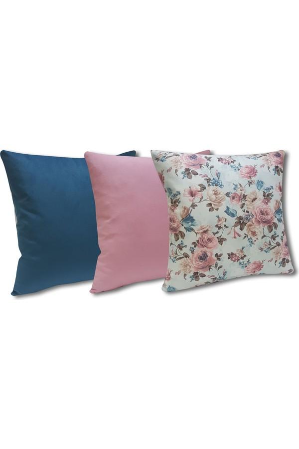 fitsdek S-315 3-Set Decorative Pillow Inside Thai Feather Filling