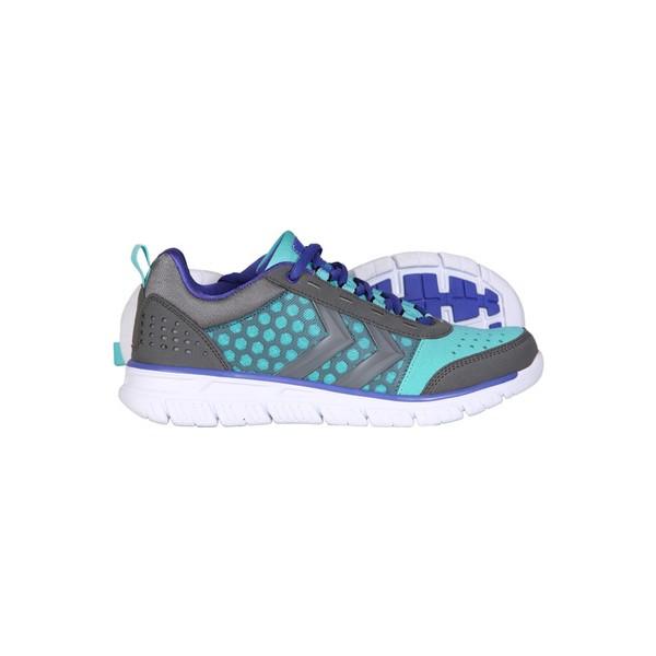Hummel Crosslite Kadın Gri-Açık Mavi Koşu Ayakkabısı