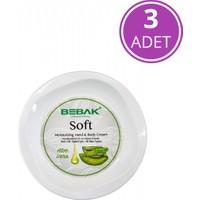 Bebak Aloe Vera Soft Nemlendirici Bakım Kremi Kavanoz 3x300 ml