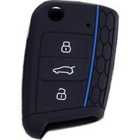 Uzay Volkswagen Seat Skoda Polo Tiguan Golf 7 Silikon Anahtar Kılıfı