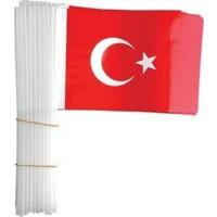 Vatan Küçük Boy Çıtalı Kağıt Türk Bayrağı 100'lü