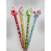 Unicorn Kurşun Kalem Ve Kalem Başlıkları Seti 4'lü