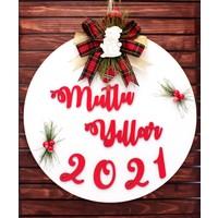 Lora Wedding 2021 Yeni Yıl Kapı Süsü, Yılbaşı Kapı Süsü