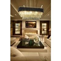 Luna Lighting Luxury Gold Siyah Yemek Masası Avize