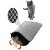 Tineke Elekli Kedi Tuvalet Önü Paspası 60X45CM Gri Kedi Paspası Kedi Oyuncakları