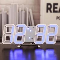 Dailytech Uzay Tasarım Dekoratif Dijital LED Masa Üstü ve Duvar Saati