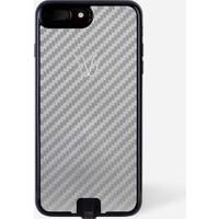 Woodie Milano Carbon Look Ash Apple iPhone 7 Kablosuz Şarj Alıcı Kılıf