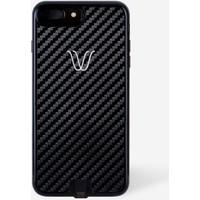 Woodie Milano Carbok Look Black Apple iPhone 7 Kablosuz Şarj Alıcı Kılıf