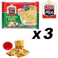 Oba Mie Noodle Hazır Makarna 75GR Sebze '' 3 Adet '' (5 Adet Çaykur Altın Süzen Poşet Bardak Çay)