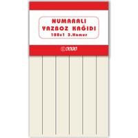 Kaya Yazboz Oyun Kağıdı 6 Haneli 3.hamur Kağıt 9.5 x 16.5 cm 25'li