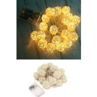 Deconorm Dekoratif Rattan Model Şerit LED (10'lu)