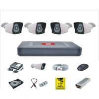 Depo Güvenlik Sony Lensli Gece Görüşlü Full Hd Güvenlik Kamerası Sistemi 4'lü Set
