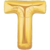Acar Süs Altın Renk T Harfi Folyo Balon 16 İnç 40 cm