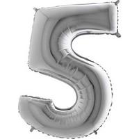 Acar Süs Gümüş Renk 5 Rakamı Folyo Balon 16 İnç 40 cm