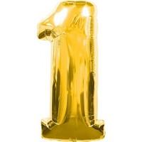 Acar Süs Altın Renk 1 Rakamı Folyo BALON(40INÇ) 100 cm