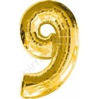 Acar Süs Altın Renk 9 Rakamı Folyo BALON(40INÇ) 100 cm