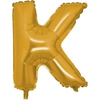 Acar Süs Altın Renk K Harfi Folyo BALON(16INÇ) 40 cm