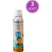 Bebak Bebek Güneş Köpüğü 50 + Spf Yüksek Koruma 150 ml - 3 Adet