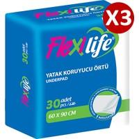 Flexilife Köpek Çiş Pedi Yatak Koruyucu 60X90 cm 3 Paket 90 Adet