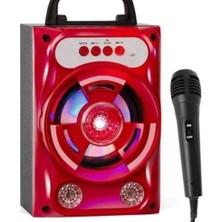 Yukka Kırmızı S16 Mikrofonlu Kablosuz Bluetooth Hoparlör (Yurt Dışından)