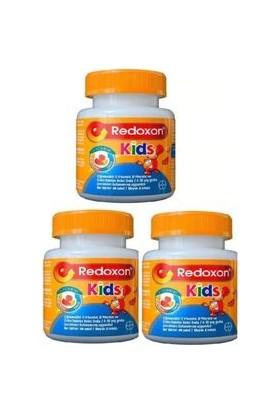 Redoxon Kids Çiğnenebilir C-D Vitaminleri ve Çinko Içeren Gıda Takviyesi x 3