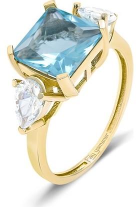 Fay Yamaner Prenses Kesim 4,00 Ct. Altın Yüzük
