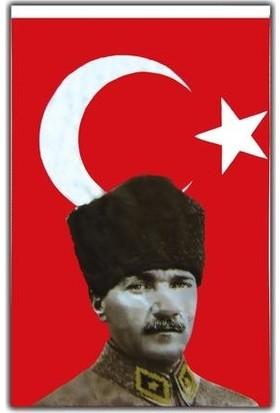 Vatan Bayrak 50 x 75 cm Atatürk'lü Bez Bayrak