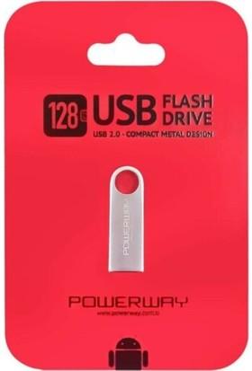 Powerway POWERWAY128 GB Metal USB Flash Bellek