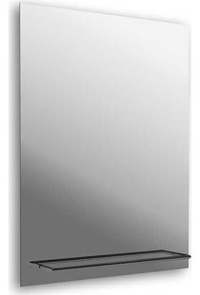 Bocchı Havlu Askılıklı Dikdörtgen Banyo Aynası Krom